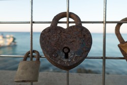 door locks as a symbol of long love leave tourists on the fence
