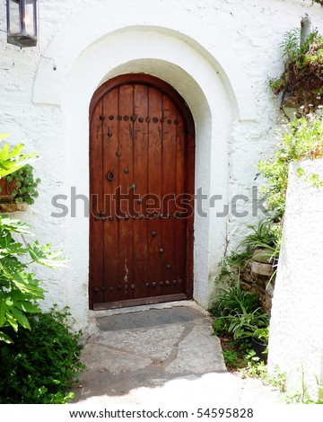 door of a traditional Greek house, Athens