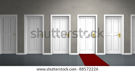 door of a very important person