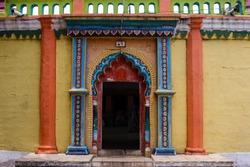 Door of shiva temple Hindu