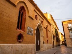 Door of the Saint Nicholas church in Valencia, Spain.