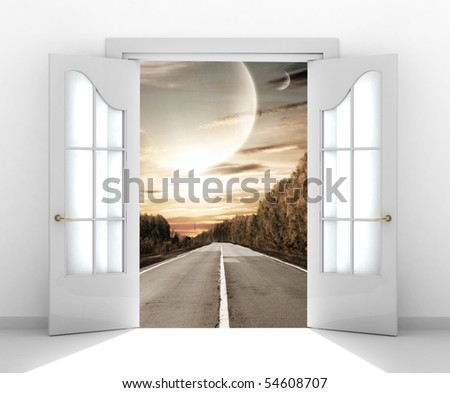 Door open in the alien world