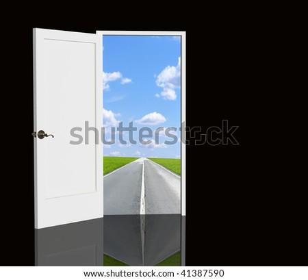 Door open in the real world