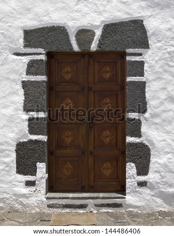 Door, Our Lady of Dolores church, Lanzarote