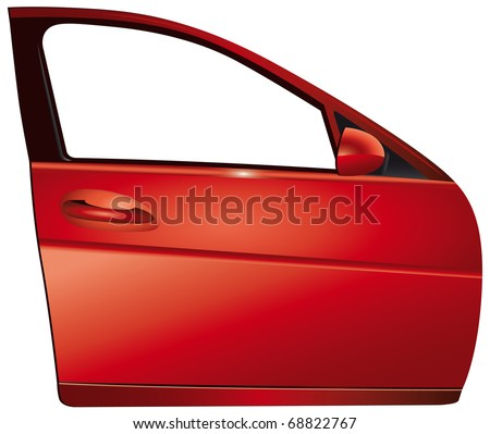 Door red car
