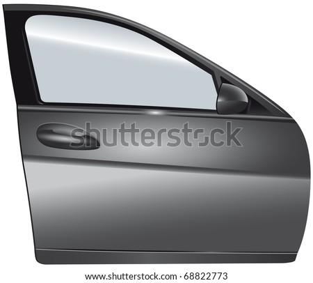 Door silver car