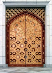 Door (the Kiptchak mosque in Turkmenistan) - The Kiptchak mosque is the largest mosque in Central Asia
