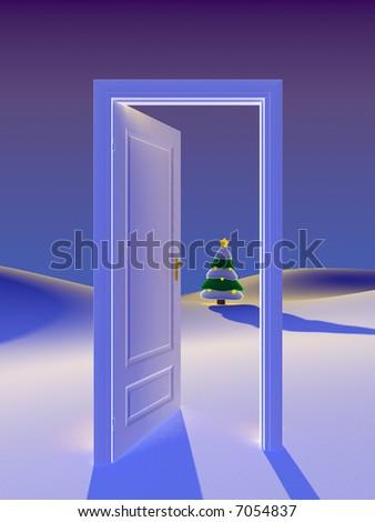 Door to christmas