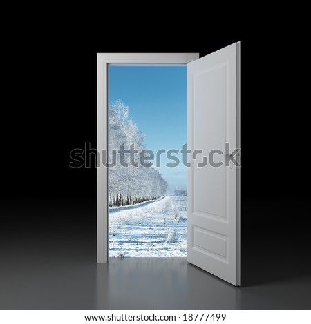 Door to winter.