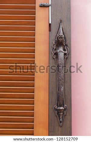 door with Lock and Holder.