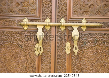 door with malay and islamic style background