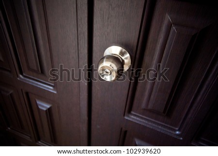 doorknob on a hotel room door