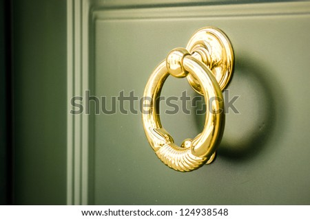 doorknocker at a front door