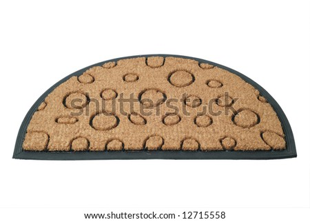 Doormat isolated on white
