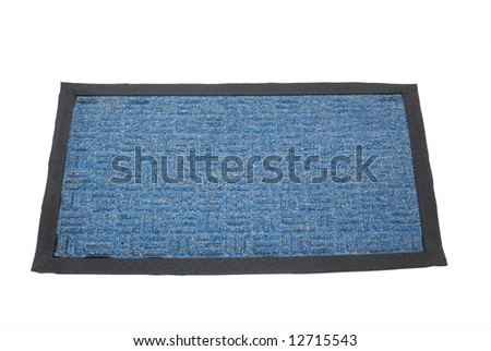 Doormat - isolated on white background with clipping path