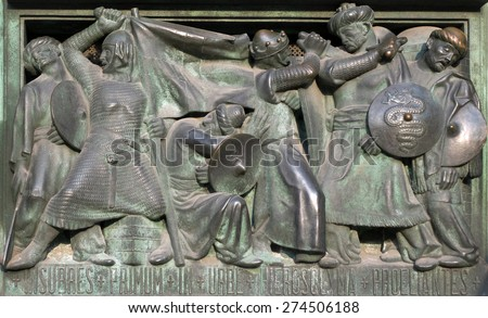 Doors of the Milan Cathedral depicting conquest of Jerusalem by Crusaders #274506188