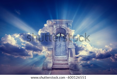 Shutterstock Doors to Paradise. The concept on religions and philosophical topic.