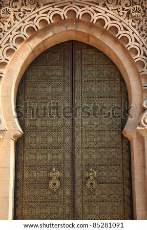 Doorway detail at the Hassan mosque - Casablanca