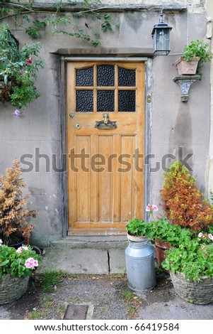 Doorway of a Beautiful Old Cottage