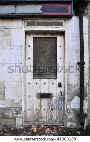 Doorway of Derelict Business Premises