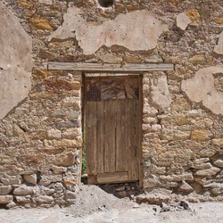 Doorway to Abandoned homes in Mexican Mining town from 1800's