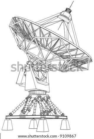 doppler radar: 3d technical draw #9109867