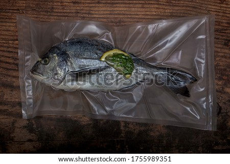 Dorade prepared for sous vide cooking Photo stock ©
