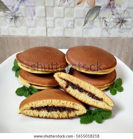 Dorayaki The Japanesse Traditional Snack with Chocolate Filling