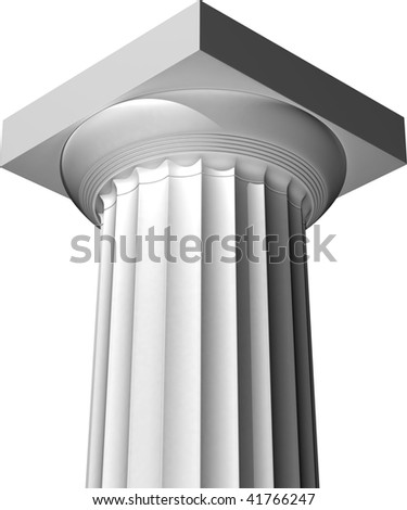 Doric column - stock photo