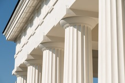 Doric Columns Of Ancient Greek Temple