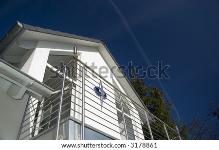 Dormer of a roof with balcony