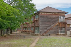 Dormitory of the Tomioka Silk Mill in Gunma, Japan