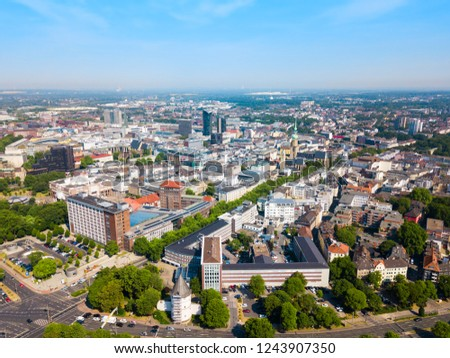 Photo of  Dortmund city centre aerial panoramic view in Germany