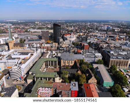 Photo of  Dortmund city, Germany. Urban aerial view of Dortmund.