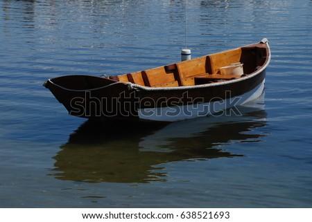 Dory at anchor