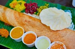Dosa, crispy savory pancake from South India