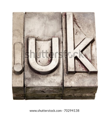 dot UK - internet domain for United Kingdom