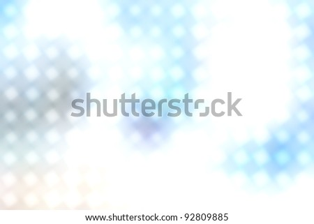 Dotted background of the colorful dots on the blured light, defocused dots of light blue color modern wallpaper