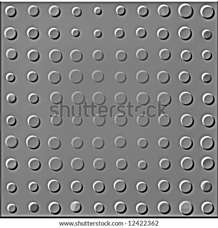 Dotted Seamless Metallic Plate - stock photo