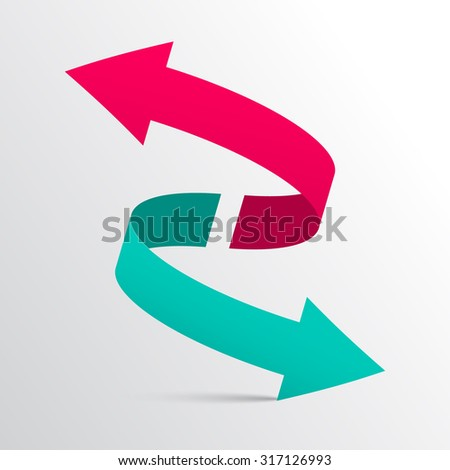 Double Arrow 3D Logotype Symbol #317126993