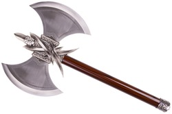 Double axe by diagonal, isolated on white background