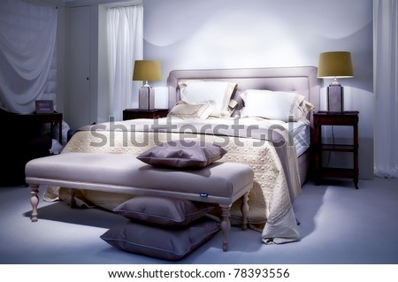 double bed in classic style