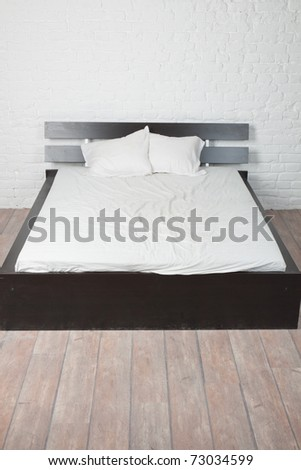 Double bed in the interior