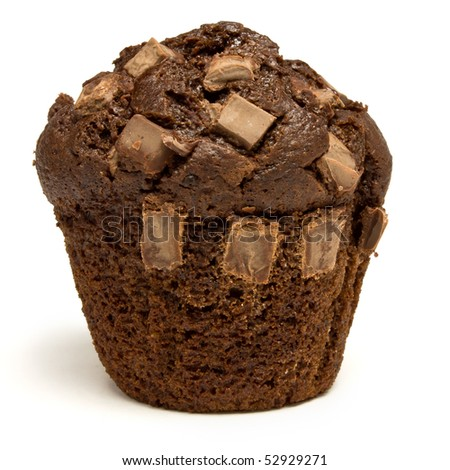 Entre Muffins y Café...[Priv/Kim Jong Woon] Stock-photo-double-chocolate-fondant-filled-muffin-isolated-against-white-background-52929271