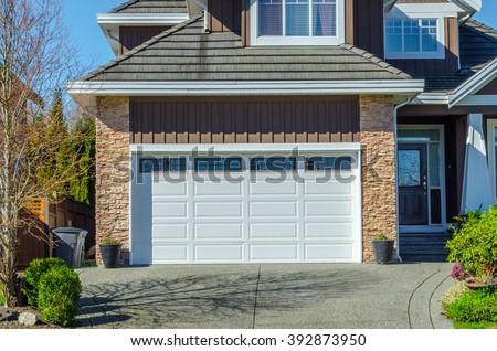 Double doors garage.