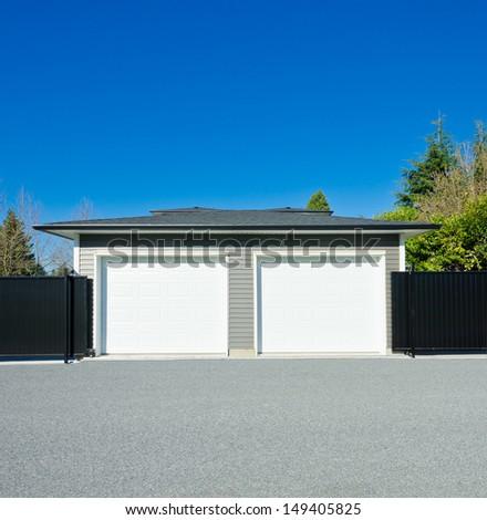 Double Doors Garage. North America. Canada.