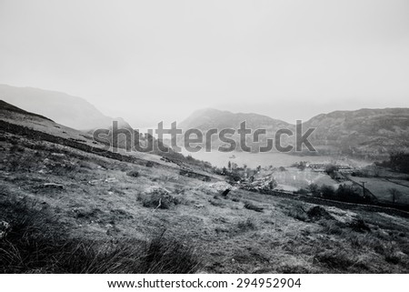 Double exposure abstract landscape background