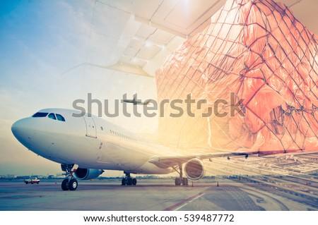 double exposure of air cargo...