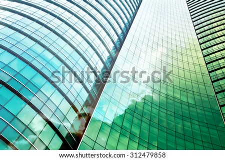 double exposure of modern office building