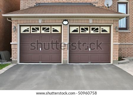 Double Garage - stock photo